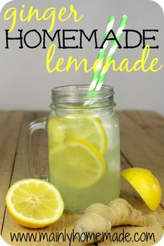 Add a little zing to your homemade lemonade recipe using a little ginger.