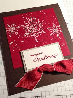 features Endless Wishes stamp set by Stampin Up, Christmas card