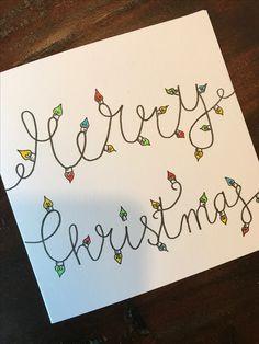 Handletteren voor kerst! Ook een handgetekende kerstkaart bestellen? Mail ikse@kortenblondig.nl