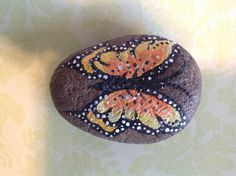 Painted rock butterfly