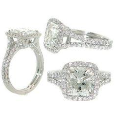 Lux Bond & Green : Cushion Cut Diamond Engagement Ring