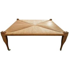 Large Hand Woven Rush Top Bench / Coffee Table | From a unique collection of antique and modern coffee and cocktail tables at http://www.1stdibs.com/furniture/tables/coffee-tables-cocktail-tables/