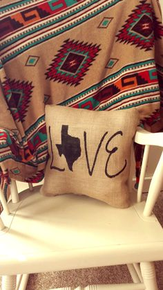 Check out this item in my Etsy shop https://www.etsy.com/listing/161850662/texas-love-shabby-chic-burlap-pillow