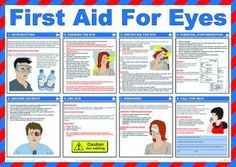 Aid & Treatment Posters - Eye Care Poster - Safety first aid guidance posters can help to raise safety awareness throughout your organisation. Emergency First Aid, Emergency Preparation, Emergency Preparedness, Emergency Care, Survival Prepping, First Aid Cpr, Safety And First Aid, First Aid Poster, First Aid Treatment