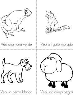Oso Pardo Mini Book from TwistyNoodlecom Animal Readers