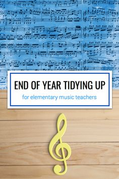 Tips and free resources for elementary music teachers packing up and organizing for the summer break.