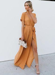 Maxi Wrap Wrap Kleider langen Kleid Maxi Sommer Wrap Kleid | Etsy