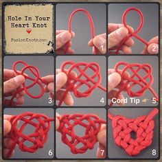 """214 Likes, 6 Comments - J.D. L E N Z E N (@zenolen) on Instagram: """"Hole in Your Heart Knot - Step-by-Step (image) Instructions - Video instructions feat. on my…"""""""