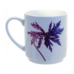 Gillian Arnold Purple Star Leaves Stacking Mug