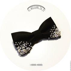 Купить Галстук бабочка - черный, галстук-бабочка, галстук бабочка, галстук бабочка женский