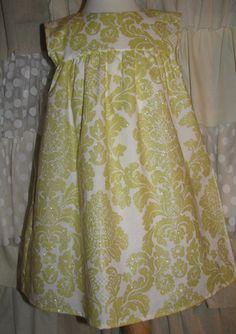 Yellow Glitter Damask Dress-Yellow Glitter Dress