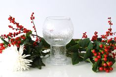 IITTALA GLASS VASE 'Kekkerit' Large Goblet by CurialVintage