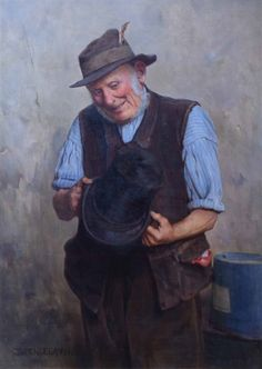 """Charles Spencelayh - """"Antiques"""""""