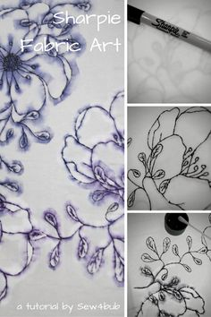 Fabric printing with Sharpies