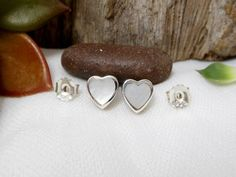 Classic 3D Handcraft Sterling Silver White Mother Pearl Heart Earrings,Mother Pearl Earring,Heart Earring,Shell Heart Earring,Gifts For Her by Supsilver on Etsy