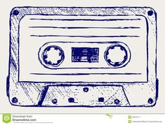 Images For > Cassette Tape Colorful Drawing