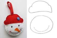 Christmas 2019 : Felt Christmas moulds and crafts - Trend Today : Your source for the latest trends, exclusives & Inspirations Christmas Tree Template, Easy Christmas Ornaments, Christmas Stocking Pattern, Felt Christmas Decorations, Christmas Swags, Christmas Diy, Christmas 2019, Christmas Crafts Sewing, Felt Ornaments Patterns