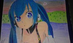My drawing - Miku - Vocaloid