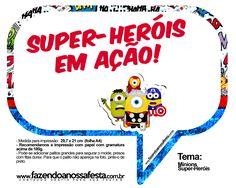 Plaquinhas Divertidas Minions Super-Heróis 17