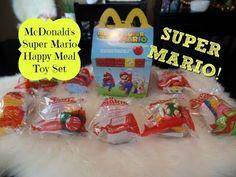 McDonlad's Super Mario Happy Meal Toy Set Opening