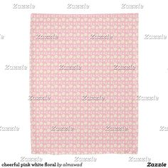 cheerful pink white floral duvet cover