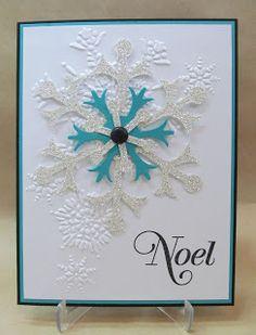 Savvy Handmade Cards: Silver Glimmer Snowflake Card