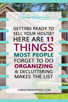 Getting Ready to Sell Your House? Here Are 11 Things Most People Forget to Do Bathroom Closet Organization, Nursery Organization, Home Organization Hacks, Organizing, Budget Home Decorating, Diy Home Decor On A Budget, Selling Your House, Minimalist Home, Home Decor Bedroom