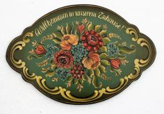 Beautifully Hand PaintedGerman by Folkartbycathy on Etsy