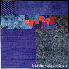 Blue/Orange Quilt by Maryline Collioud-Robert. What a great understanding of colour.