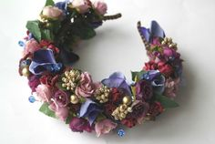 Flower Hair Wreath Purple Flower Crown Flower Headpiece
