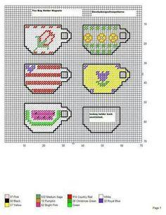 Tea bag holder magnets