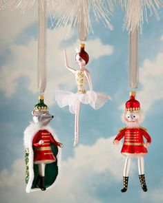 Future heirloom Nutcracker Suite ballet blown glass Christmas ornaments by De Carlini at Horchow.com $60-$62, free shipping