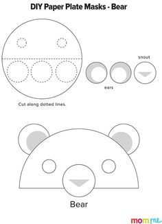 Turn a paper plate into a brown bear