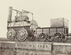 No. 1 Locomotive and Tender, Darlington Railway Station  Francis Frith (British, 1822–1898)    c. 1860