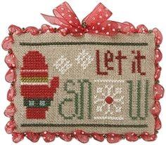 Jingles Flip-it Let It Snow Cross Stitch Pattern