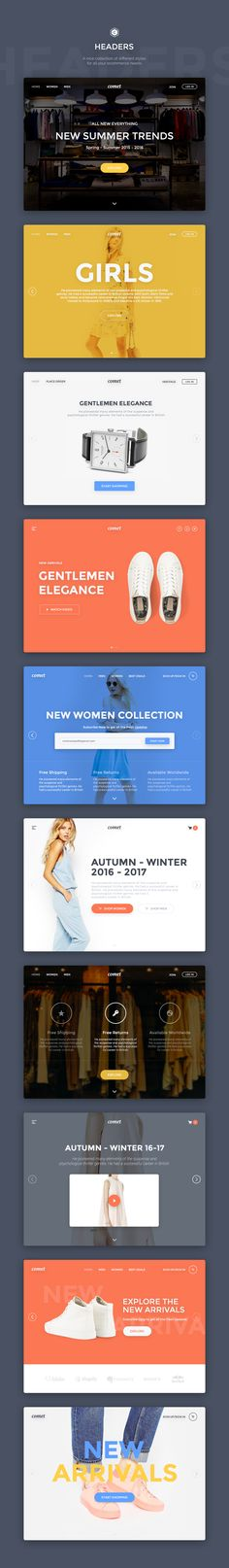 Comet Ecommerce UI Kit by Comet Shop on @creativemarket