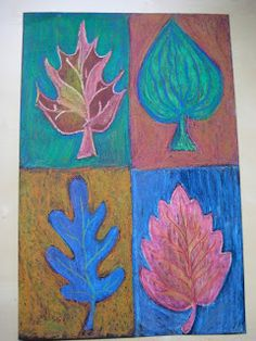 This fall art lesson was always a big hit with my students when I was anelementary art teacher.   It was a nice way to talk about t...