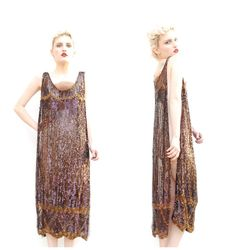 1920s sequin beaded flapper gatsby gown zeigfeld showgirl costume dress tabard 20s deco on Etsy, $1,250.00