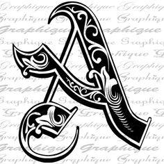Image result for fancy letter A