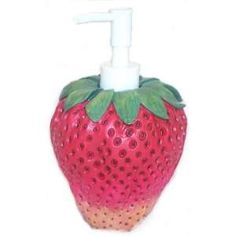 Strawberry Decor For Kitchen Strawberry Lotion Pump Soap Dispenser Kitchen Decor Kitchen Dining