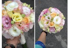 Baiciurina Olga's Design Room: Розово-персиковый,винтажный букет невесты-Pink&Peach vintage wedding bouquet
