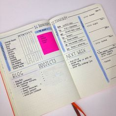 Minimalistic Bullet Journal with simple and functional spreads - http://www.christina77star.co.uk