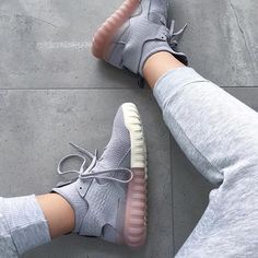"adidas Originals Tubular X Primeknit ""Clear Granite."" Shoe game on point. Photo: adidas Originals Tubular X Primeknit Clear Granite. Shoe game on point. Adidas Sneakers, Shoes Sneakers, Shoes Heels, Grey Sneakers, Cute Shoes, Me Too Shoes, Adidas Originals, Baskets Adidas, Basket Mode"