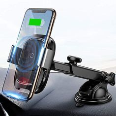 Complete Car Mount Set with Air Vent Clip OneNorth QI Fast Car Wireless Charger Infrared Auto-Sensing QI Wireless Charger for iOS /& Android Phone Holder /& Charger for Car 7.5 W and 10 W Mount