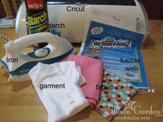Allie B Dallie: Cutting Fabric with the Cricut