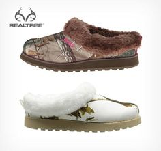 Skechers Women's Keepsakes Snow Angels Mule in Realtree Xtra and Snow Camo #Realtreecamo #Realtreegear