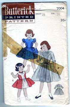 Vintage 1954 Butterick 7004 Sewing Pattern by SewUniqueClassique