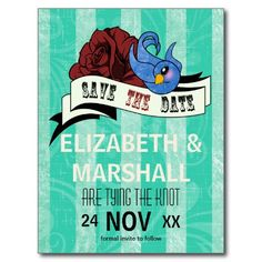 save the date rockabilly 1950's cards :)