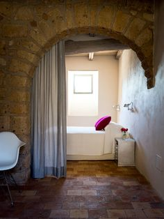 decorology: You must see this amazing Italian home in Medieval Civita! My Home Design, Home Interior Design, Interior Decorating, House Design, Decorating Ideas, Decor Ideas, Craft Ideas, Boudoir, Bedroom Photos