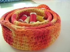 Love the colour! And the idea of stacking baskets.